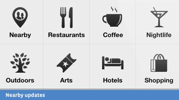 Facebook Mobile Categories