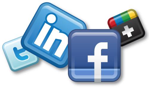 linkedin facebook twitter project marketing