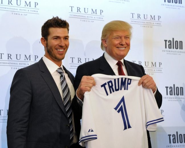 Donald Trump and J.P. Arencibia