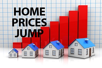 home prices jump
